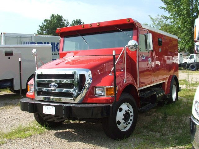 Armortek International Armored Money Transport Truck Red