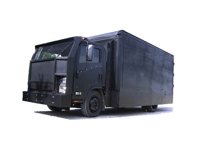 Armortek International Armored Skid Mounted Riot Control Truck Black