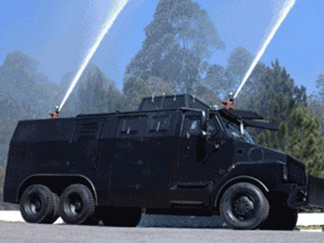 Armortek International Armored Riot Control Water Cannon Black