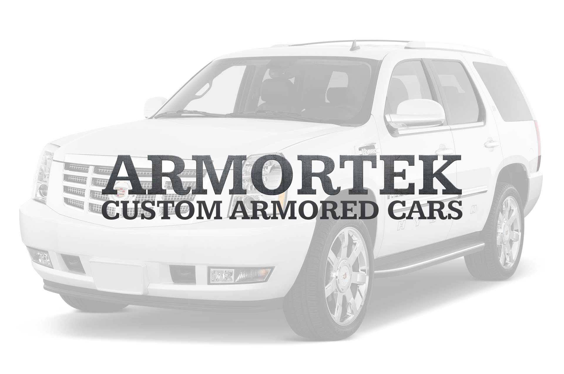 Armortek International Custom Armored Car Logo Over White SUV Slide